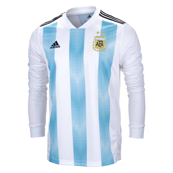 Argentina FIFA World Cup Home Jersey Long Sleeve 4f60ebe61